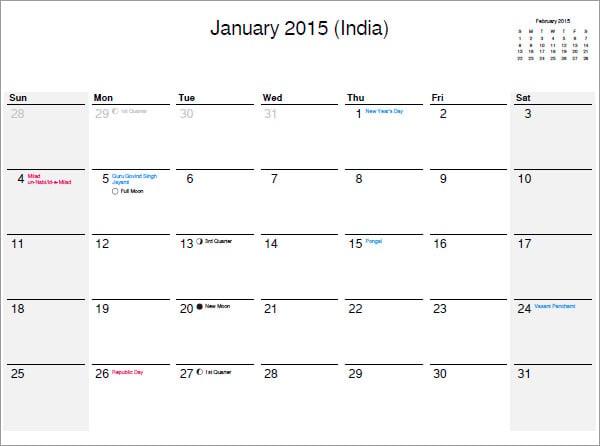 25+ Best 2016 Calendar Templates To Print | Free & Premium Templates