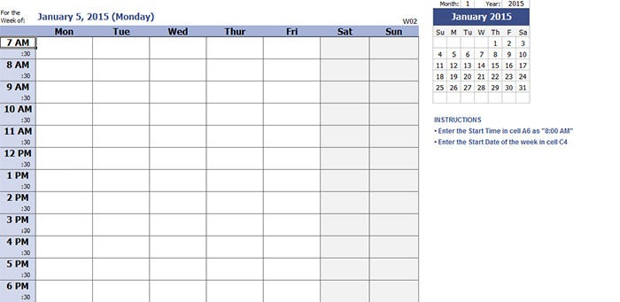 image relating to Daily Calendar Printable named 39+ Easiest Each day Calendar Templates Options for 2015 Absolutely free