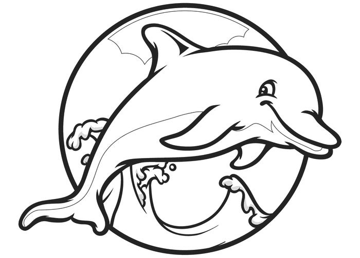 Dolphin pictures to print the image kid for Dolphin coloring pages to print out
