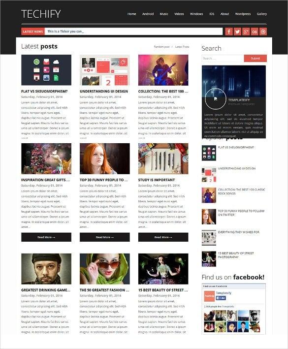 professional magazine responsive blogger template1