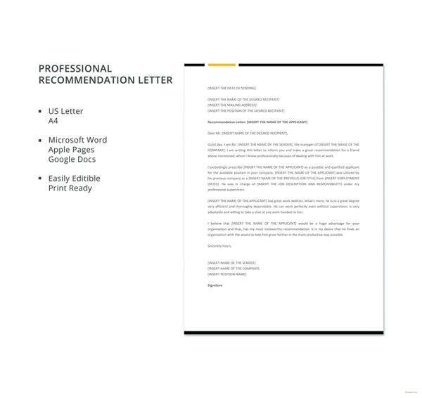 professional-recommendation-letter-template