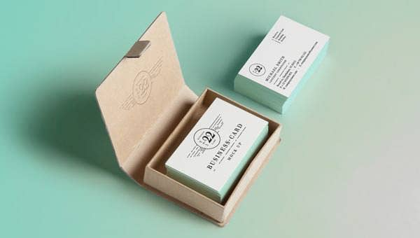 psd business card mock up vol22