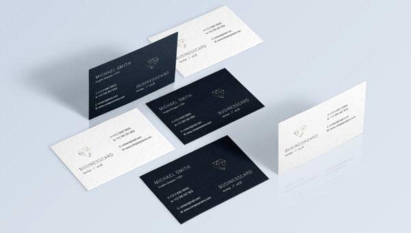 69 best psd business card templates free premium for Business card presentation template psd