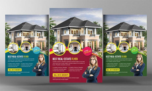 commercial real estate flyer templates .