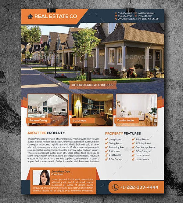 real estate flyer template 52 free psd ai vector eps format download free premium templates. Black Bedroom Furniture Sets. Home Design Ideas