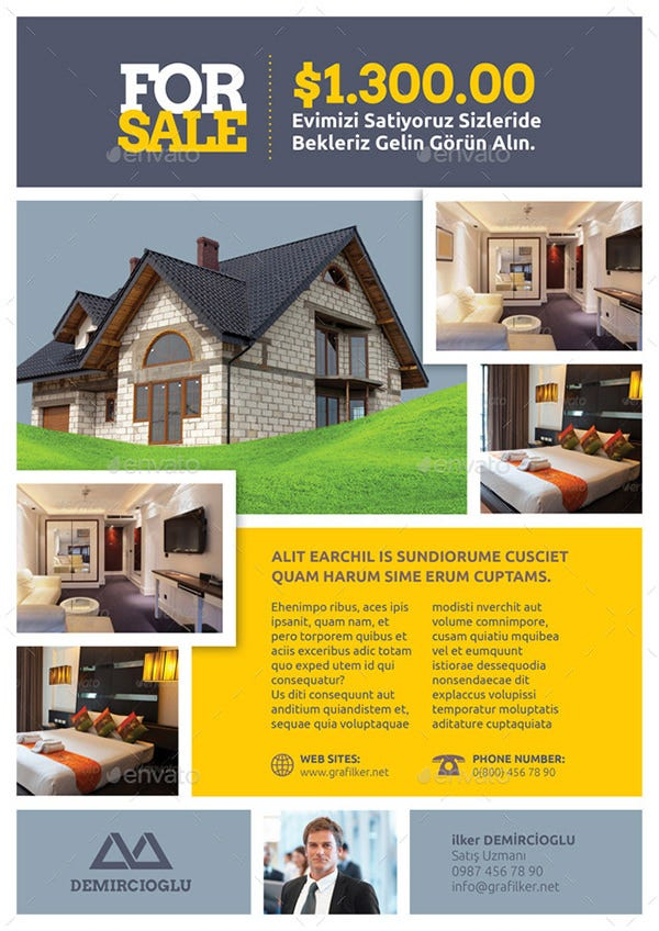 Real Estate Flyer Template Word - House for sale brochure templates free