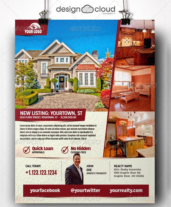 Real Estate Flyer Template Free PSD AI Vector EPS Format - Property brochure template
