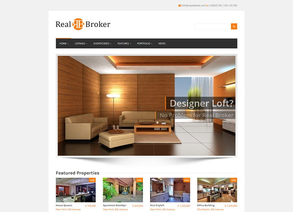 A Responsive WordPress Real Estate Theme