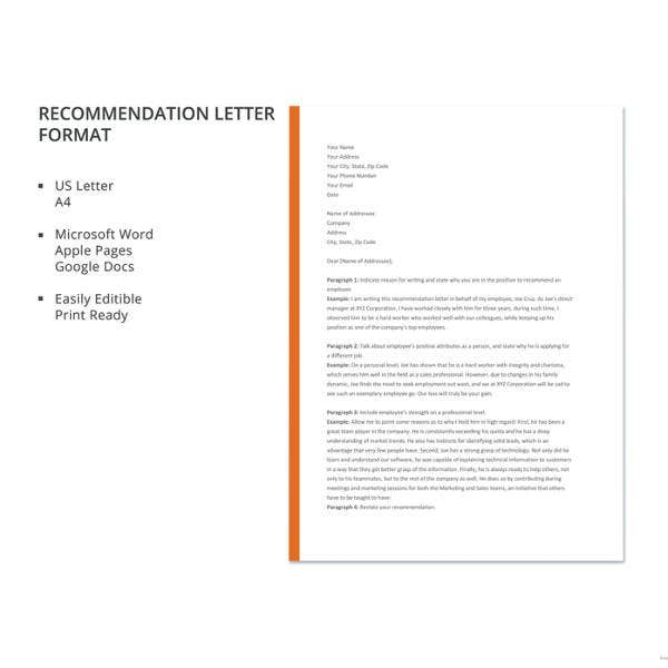 recommendation-letter-format