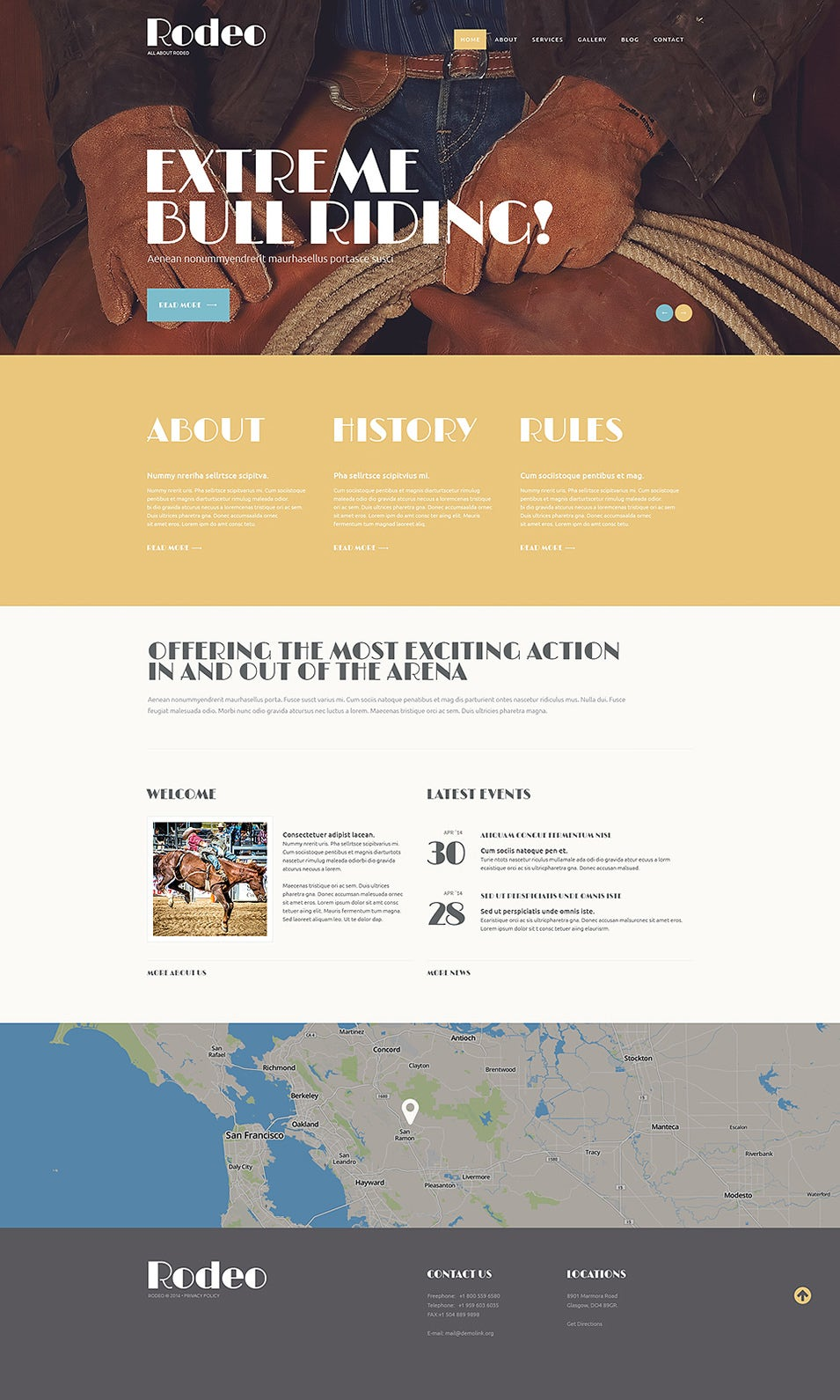 refined rodeo club wordpress theme1