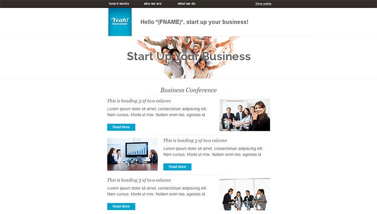 20 business email templates samples free premium templates responsive business email template friedricerecipe Image collections