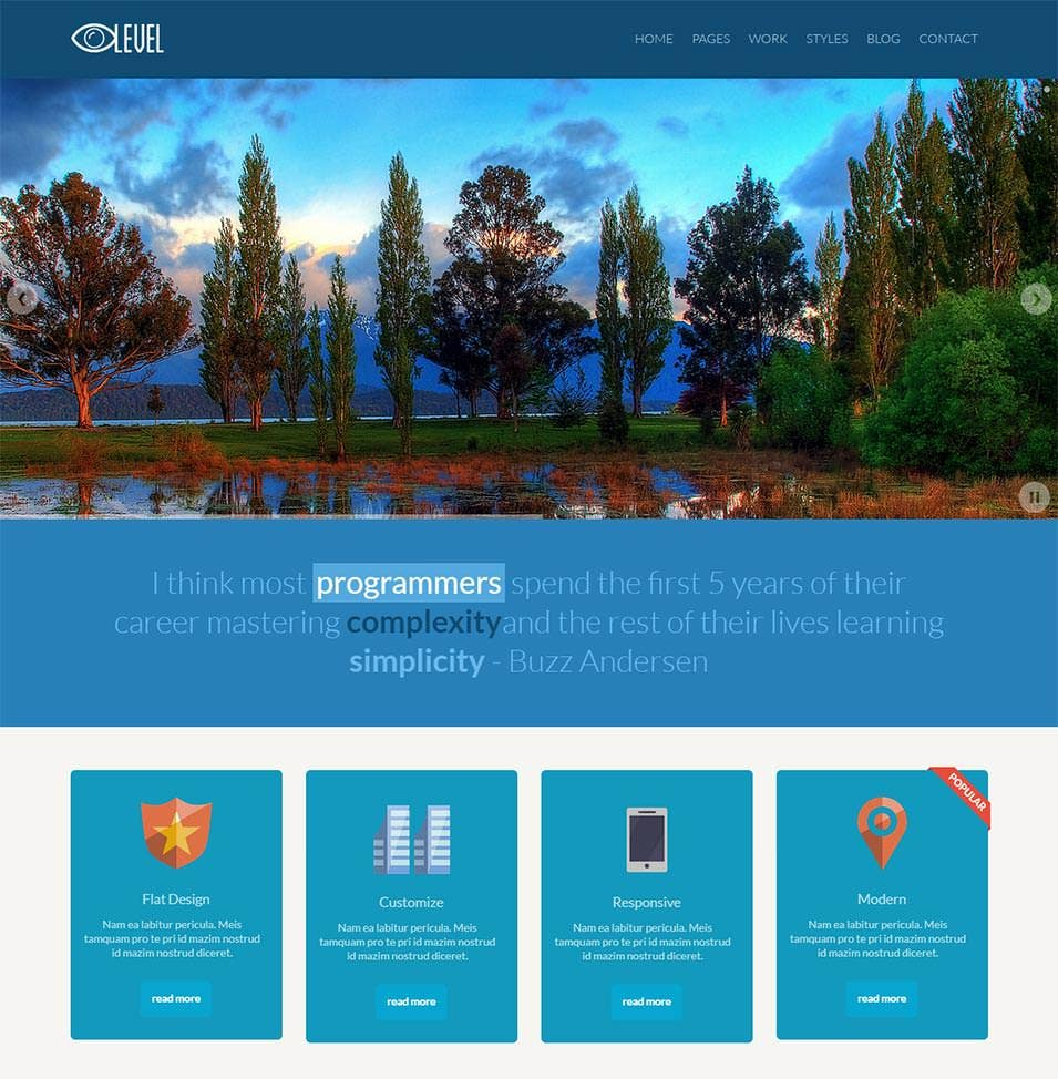 responsive flat design bootstrap template