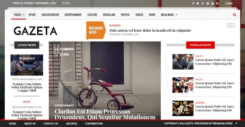Responsive HTML News Template
