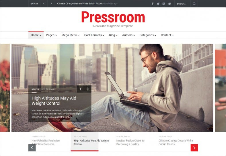 15+ News Channel HTML5 Website Themes & Templates | Free & Premium ...
