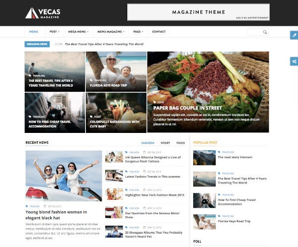 responsive magazine news drupal theme