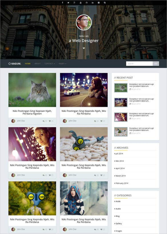 Bootstrap responsive blog template free download