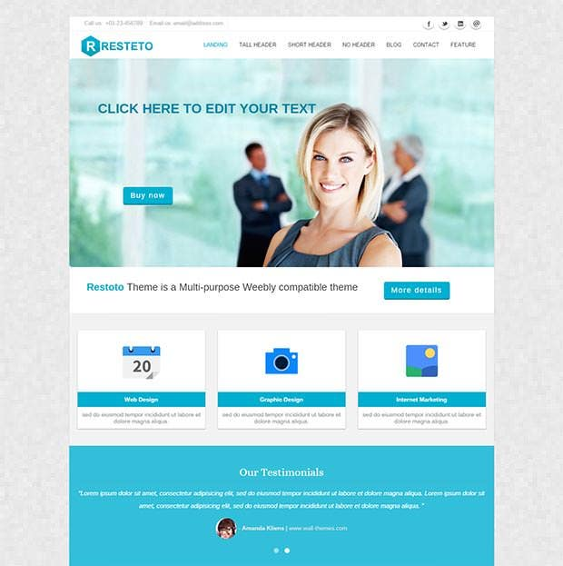 resteto multipurpose weebly template