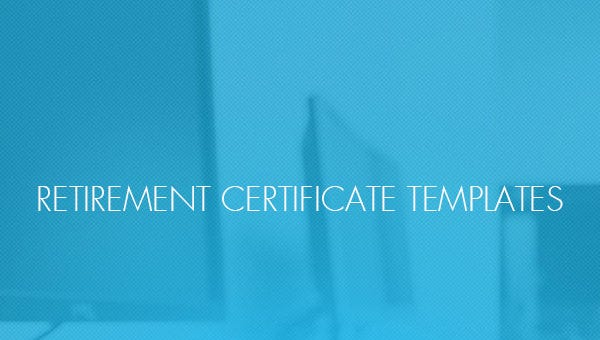 retirement certificate templates