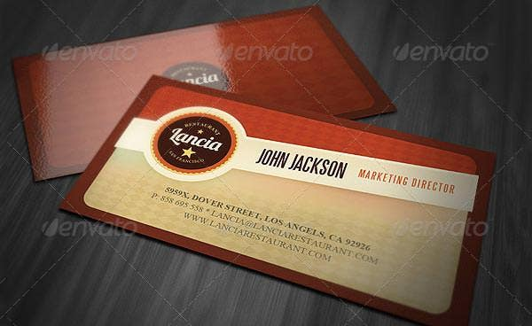 53 best premium business card template designs free premium retro business card template reheart Image collections
