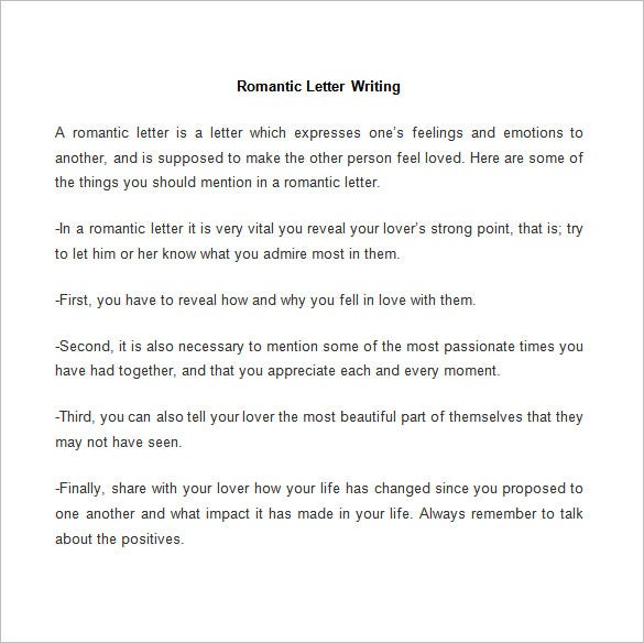 Romantic Love Letter Template Writing  Love Letter Template For Him