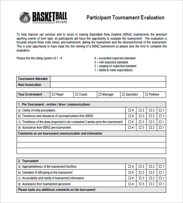 12+ Free Basketball Evaluation Forms | Free & Premium