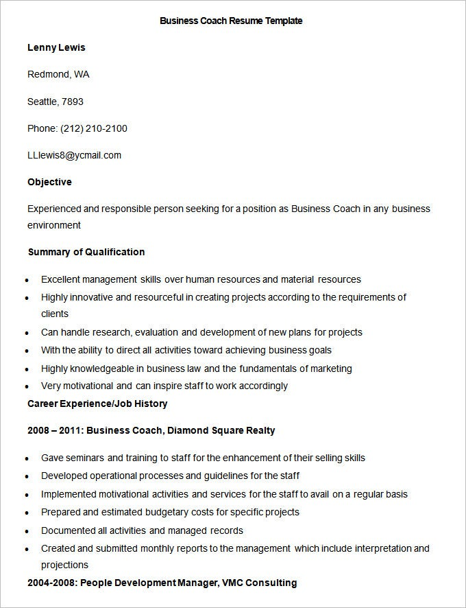 Sample Resume Basketball Coach Resume Exles Coach Resume     Resume Cover Letter Sample Resume of Coach Bus Resume