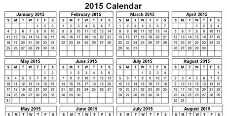 samplecalendartemplates2015