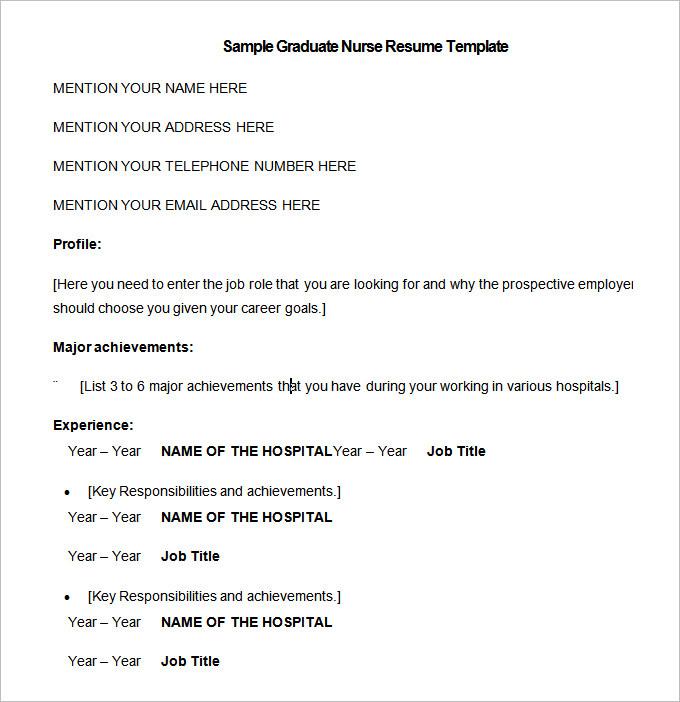 nursing resume template 9 free sles exles