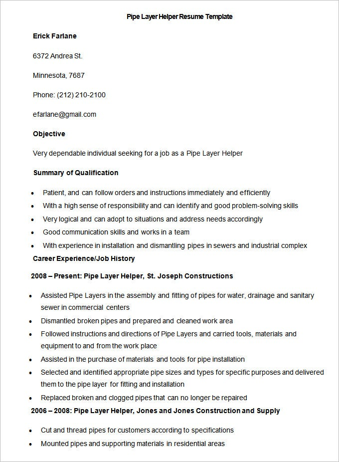 manufacturing resume template  u2013 26  free samples  examples