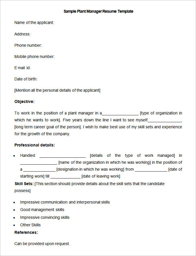 working holiday visa resume example if plant manager lots good references enrich template handy canadian