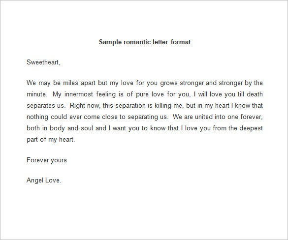 free sample love letters to wife