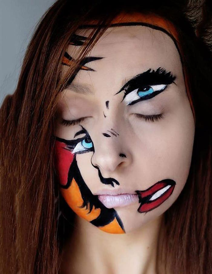 scary makeup halloween photography