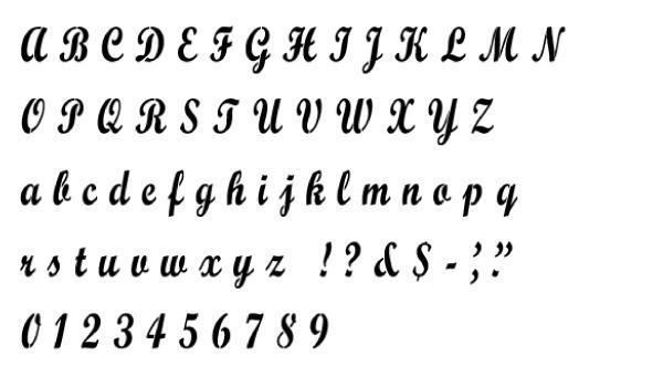 script mt bold alphabet stencil