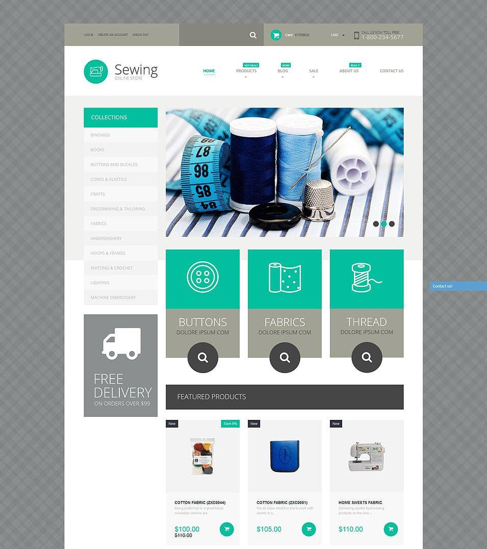sewing supplies shopify theme