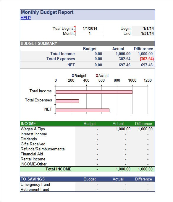 Excel Budget Template   Free Excel Documents Download  Free