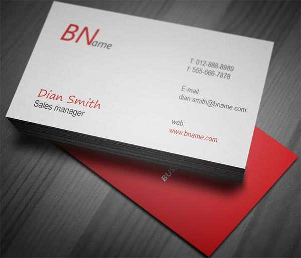 simple professional businesses card design red