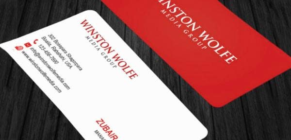 simple red bussiness card business card template