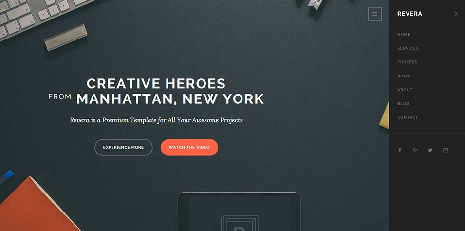 simple and creative portfolio template
