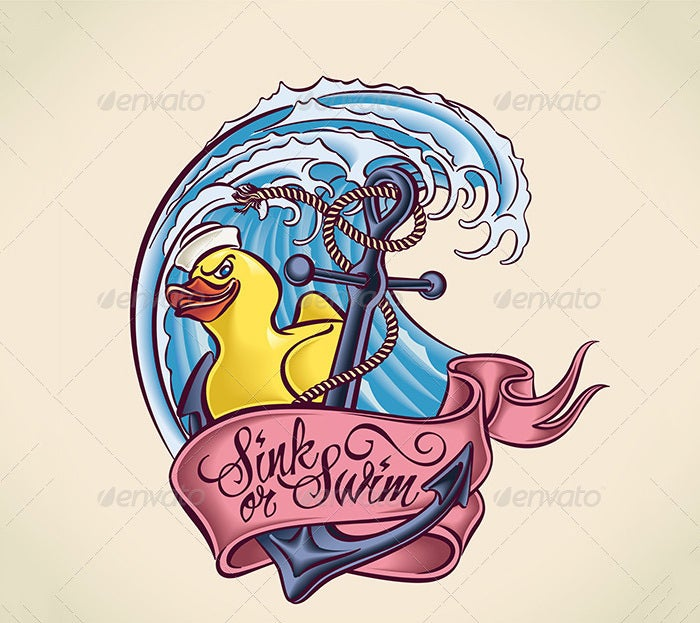 sink or swim tattoo design