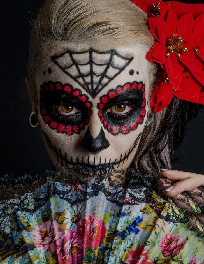 skull makeup halloween photography idea