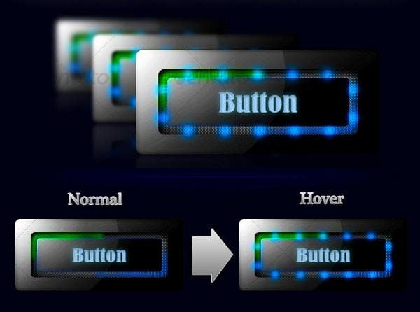 sleek led button set