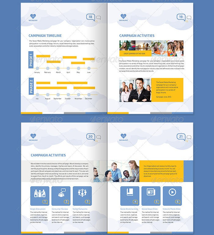 Social Media Marketing Proposal Template  Proposal Layouts