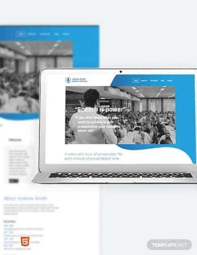 speaker bootstrap landing page template