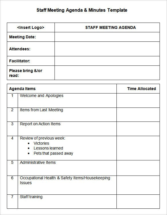 Health And Safety Minutes Of Meeting Template Images