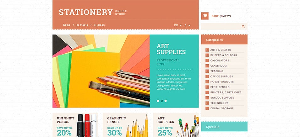 stationery and paper prestashop theme