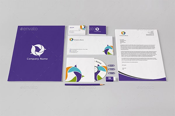 stationery letterhead design psd template
