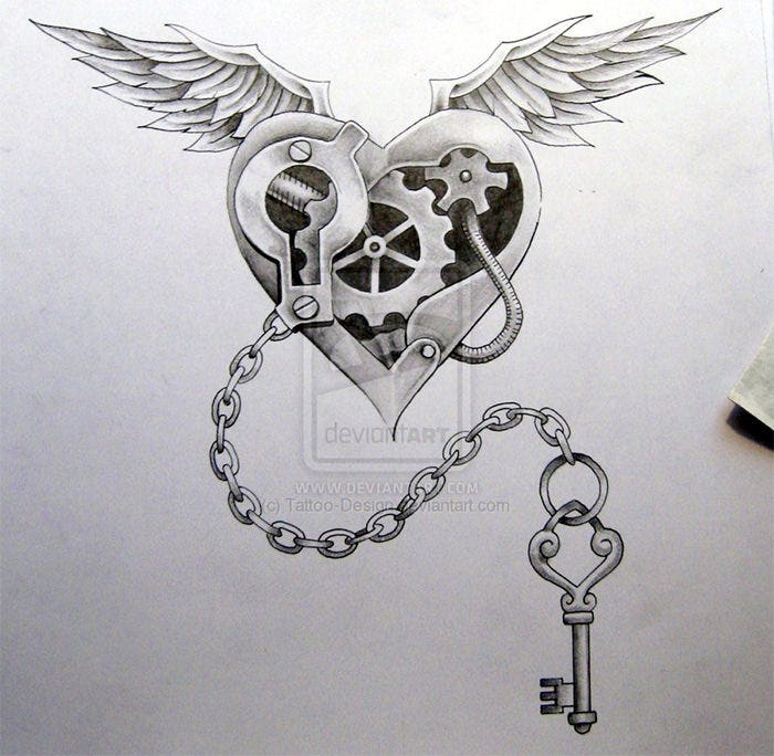 steam punk tattoo design