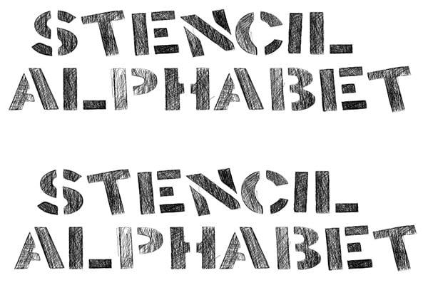 Alphabet stencils free premium templates alphabet stencil spiritdancerdesigns Images