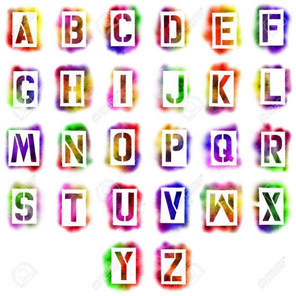 Alphabet Stencils In Spray Paint