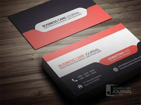 stylish modern tab design business card template